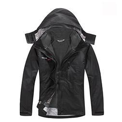 LANBAOSI Men's 3 in 1 Insulated waterproof jacket Fleece Ski
