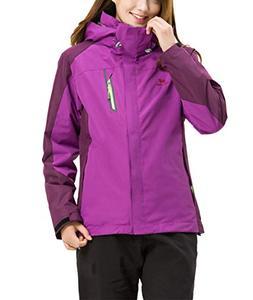 LANBAOSI Women's 3 in 1 Winter Jacket Outdoor Water Resistan