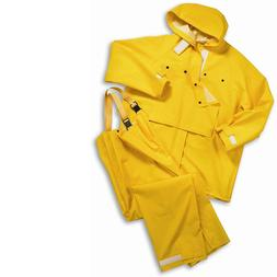 West Chester 2 Piece Rain Suit Jacket Hood Bib Overalls .35m