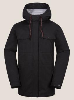2018 NWT MENS VOLCOM V.CO 3L RAIN JACKET $130 L Black