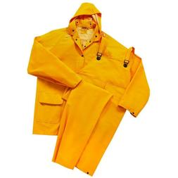 3 Piece FR Safety Rain Suit Yellow Rain Jacket w Detachable