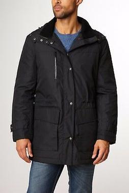 $495! NWT Cole Haan Men's Rain Duffle Hooded Black Softshell