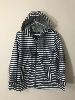 Charles River Apparel 5990 STRIPE RAINCOAT Navy-White Stripe