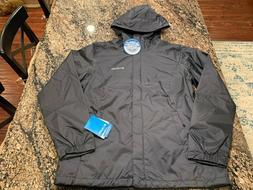 $90 Columbia Timber Pointe Rain Jacket Womens 1X Black Zip U
