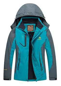 Women's Casual Waterproof Outdoor Jacket-Diamond Candy Hoode