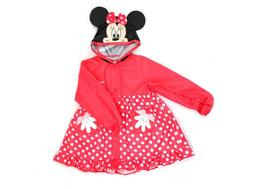 Disney Minnie Mouse Hooded Waterproof Rain Coat Jacket for K