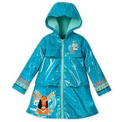 Disney Store Moana Rain Jacket for Girls Coat Toddler Hooded