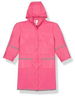 Fabugears Boys/Girls Kids/Juniors Rain Coat Whit Reflector,
