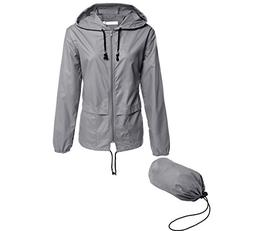 Hount Ladies Raincoat Hooded Jacket Packable Active Outdoor