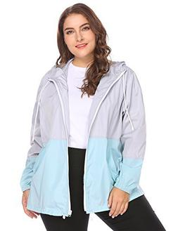0942bec609b IN VOLAND Women s Plus Size Rain Jacket Anoraks Lightweight