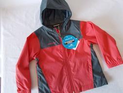 NWT Columbia RAINCREEK FALLS JACKET Rain Coat RED GRAY Water