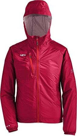 New-Outdoor Research Women's Helium II Jacket-Scarlet Size M