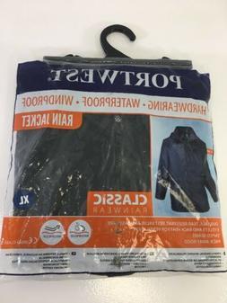 PORTWEST MEN'S CLASSIC RAIN JACKET BLACK XL NWT