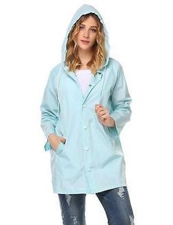 SoTeer Womens Lightweight Raincoat Hooded Waterproof Active