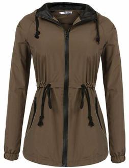 Soteer Womens Lightweight Hooded Raincoat Active Outdoor Wat