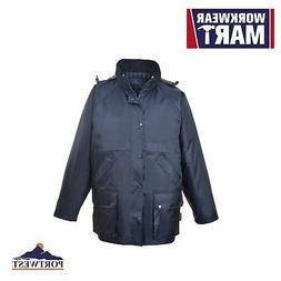 Waterproof Rain Jacket, Padded Insulated Mens Coat, Multi Po