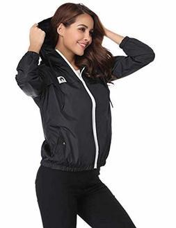 Abollria Women Rain Jacket Waterproof with Hood Lightweight