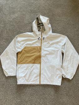 Nike ACG 2.1 Packable Waterproof Rain Jacket White/Gold BQ73