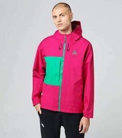 Nike ACG Packable Rain Jacket Pink Green BQ7340-607 Men's NW