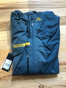 Adidas Terrex GoreTex Rain Jacket Coat Dark Blue/ Gray M 405