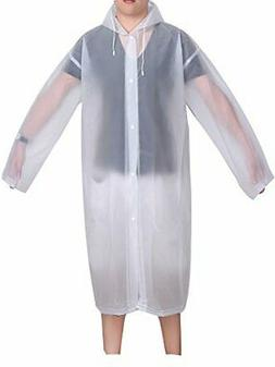 Mudder Adult Portable Raincoat Rain Poncho with Hoods and Sl
