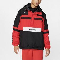 Nike Air Woven Jacket  Black White Red Half Zip Pullover Rai