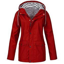 Clearance Windproof COPPEN Women Christmas Rain Jacket Outdo