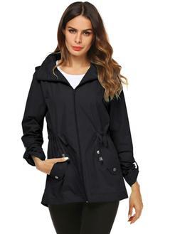 Avoogue Anorak Rain Jacket Women 80S Essential Trench Coat B