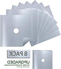 Antallcky 8-Pack Silver Stove Burner Covers Gas Range Protec
