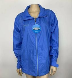 Columbia Arcadia II Rain Jacket Women's Plus Sz 1X Blue Full