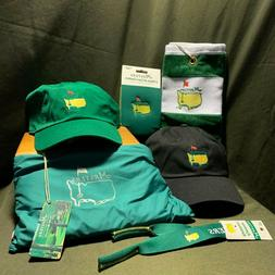 Authentic Master's Merch Bundle Including Hat, Rain Jacket,