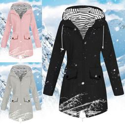 Women's Waterproof Outdoor Jackets Solid Rain Jacket Hooded