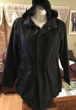 Ava & Viv wind rain coat Plus size X Black NEW