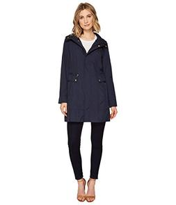 Women's Cole Haan Signature Back Bow Packable Hooded Raincoa