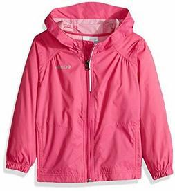 Columbia Big Girl's Switchback Rain Jacket, Pink Ice, M