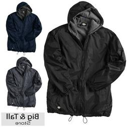 big men s hooded nylon zip jacket