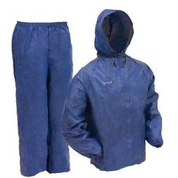Blue Medium Waterproof Rain Suit Lightweight Outdoor Hiking