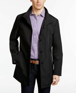 BNWT CALVIN KLEIN Men's Black Trench Rain Coat Jacket Outerw