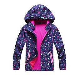 Boys Girls Rain Jacket Waterproof Coat Raincoat Hooded Light