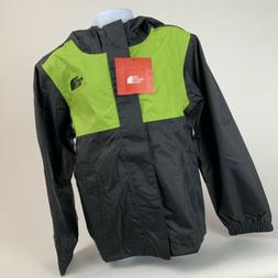 BOYS: The North Face James Rain Shell Jacket, Gray & Green -
