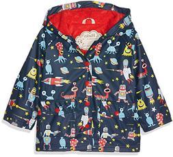 Hatley Boys' Little Printed Raincoats, Space Aliens, 8