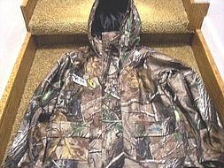 Boys Medium Rain Jacket Hunting Coat Realtree Camo Scent Blo