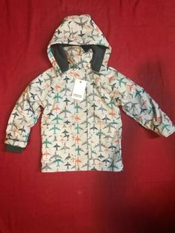 boys rain coat jacket fleece lined aeroplane