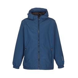 Boys Rain Jacket Size XS Waterproof Navy Blue Softshel Jacke