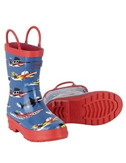 boys toddler printed rain boots monster boats