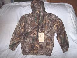 Boys XL Rain Coat Non Insulated Rain Jacket Hooded Realtree