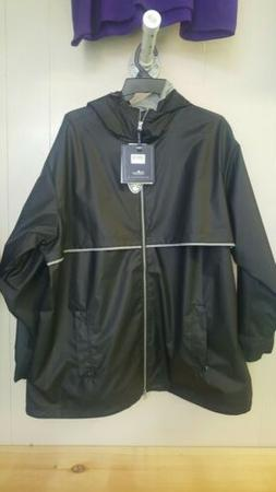 Charles River Men's 2XL Rain Jacket Black St#u40