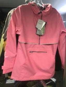 Charles River Women's Rain Pullover Jacket Neon Pink Size Sm