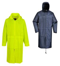 classic adult long rain coat zip jacket