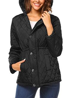 Beyove Women's Classic Lightweight Quilted Lined Jacket Barn